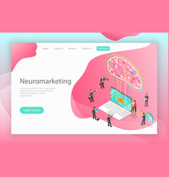 Neuromarketing digital compaign isometric flat vector