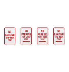 no parking tow-away zone vector image