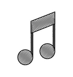 note music symbol sound volume art vector image
