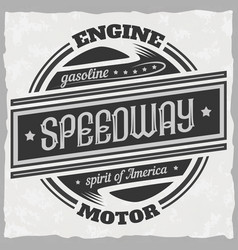 old school with typography vector image