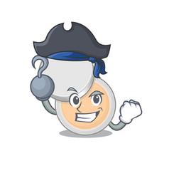 One hook hands pirate character jar powder makeup vector