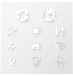 paper eco icons vector image