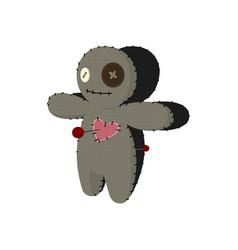 printvoodoo doll cartoon horror elements spooky vector image