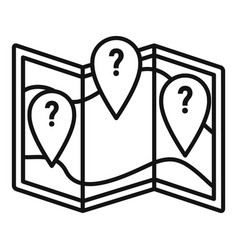 question map disease icon outline style vector image