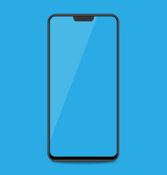 realistic smartphone with bluecolor screens on vector image