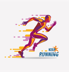 running man symbol sport and competition concept vector image