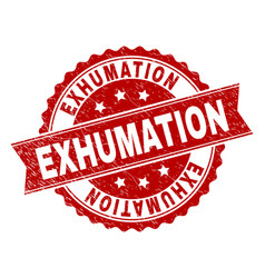 scratched textured exhumation stamp seal vector image