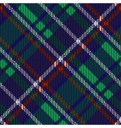 Seamless diagonal tartan texture vector image