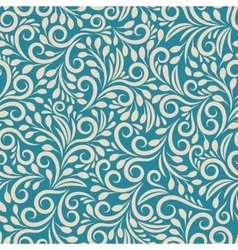 Seamless floral pattern on uniform background vector