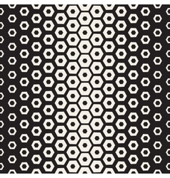 Seamless White And Black Hexagon Halftone vector image