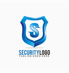 security logo design with 3d design concept vector image