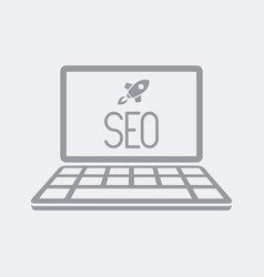 seo boost on notebook vector image