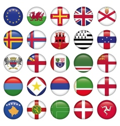 Set of European Round Flag Icons vector image