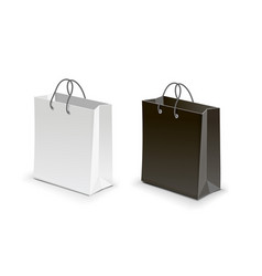 shopping bag black white vector image