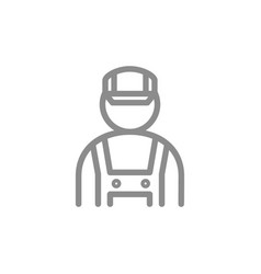 simple mechanic fitter engineer line icon vector image