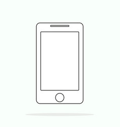 smartphone line outline style simple mobile vector image