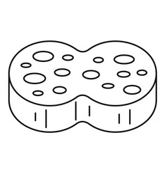 sponge wash icon outline style vector image