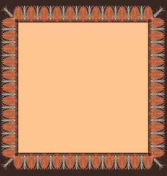 square frame with greek palmetta ornament vector image