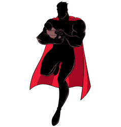 super dad with baby silhouette vector image