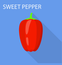 sweet pepper icon flat style vector image