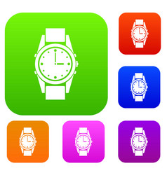 Swiss watch set collection vector
