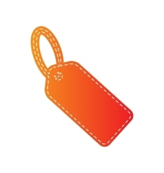 Tag sign Orange applique isolated vector image