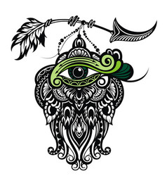 tattoo boho eye vector image