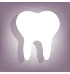 Tooth icon with shadow vector image
