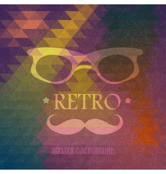 Triangular hipster grungy background vector