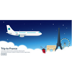 trip to france travelling modern vector image