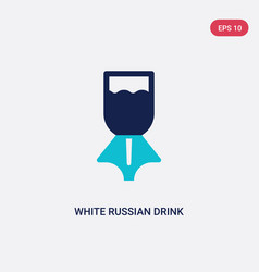 two color white russian drink icon from drinks vector image