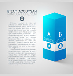 web business infographic design concept vector image