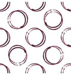 Wine stains seamless pattern vector image