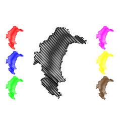 Yasothon province map vector