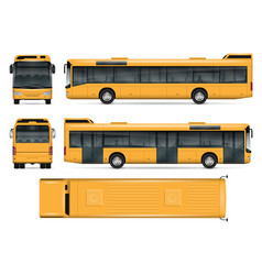 Yellow bus template vector