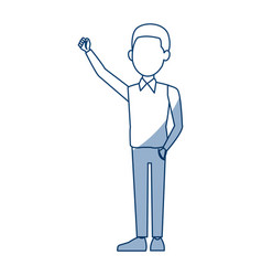 Young businessman standing character pose vector