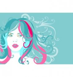 Young woman portrait vector