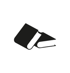 black book simple icon vector image
