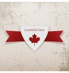 Canada day festive red emblem vector