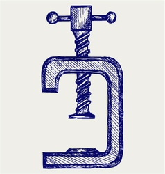 Vise vector image vector image