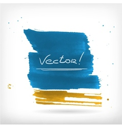 abstract watercolor brush design elements vector image vector image
