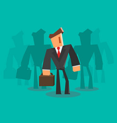 businessman team professional concept vector image vector image