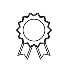 Award ribbon medal vector