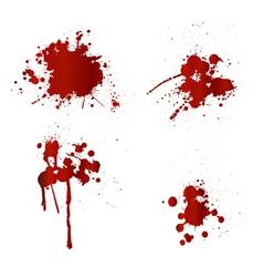 Blood splatters vector image vector image