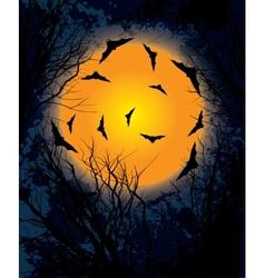 Halloween moon night background vector image