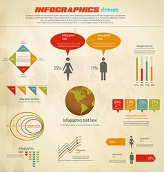 infographics retro vector image