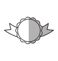 rosette branding empty element shadow vector image