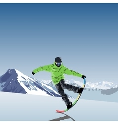 snowboarding theme Snowboarder vector image