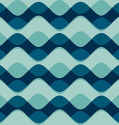 wave seamless pattern vector image