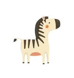 Zebra Realistic Childish vector image vector image